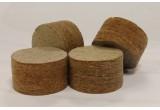 Пыж древесноволокнистый основной осаленый 12кН=12мм (10000 шт.)
