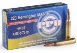 PPU 5.56*45-4,86 (.223 Rem) HP BT