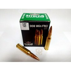 Sterling 7,62*51 (.308 Win) FMJ 147 гр, 9,52 г